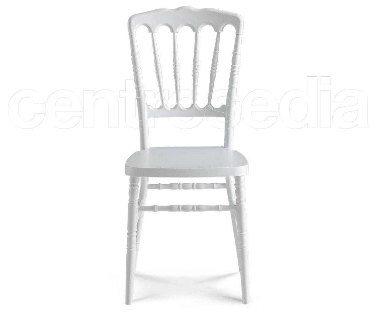 Napoleon sedia polipropilene bianco sedie plastica polipropilene
