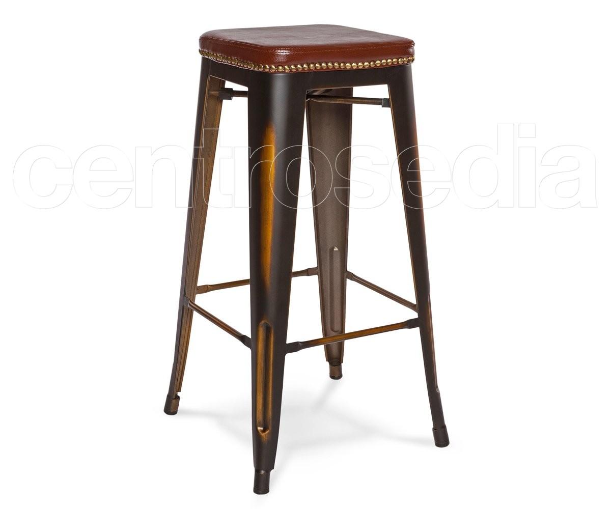 Di legno vintage barra di metallo sgabello e tavolo set per bar