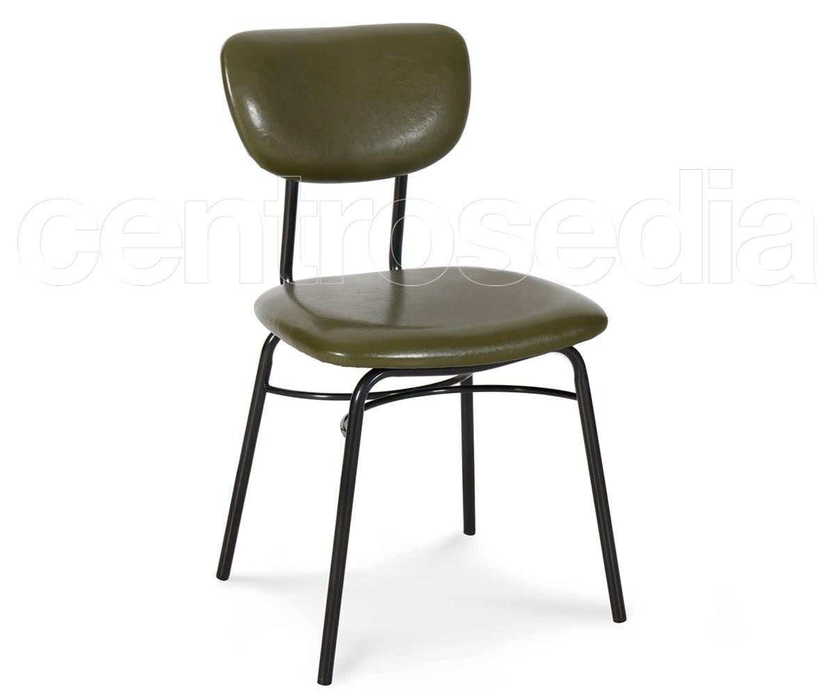 Liz sedia metallo imbottito sedie vintage e industriali