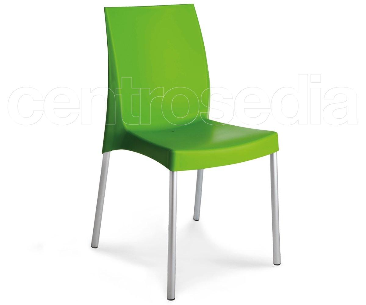 Sedie In Alluminio E Plastica.Plana Sedia Alluminio Sedie Metallo Plastica