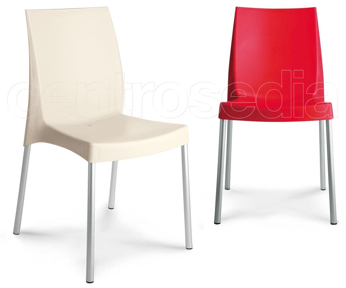 Sedie In Alluminio E Legno.Plana Sedia Alluminio Sedie Metallo Plastica