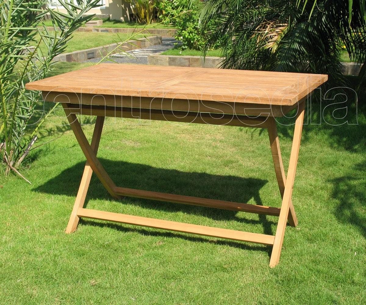Ambon tavolo pieghevole rettangolare in legno di teak - Tavolo pieghevole in legno ...