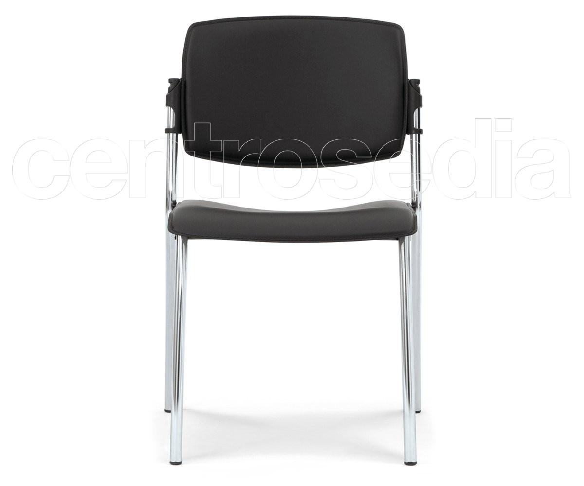 Plus sedia cuoio sedie metallo imbottite rete