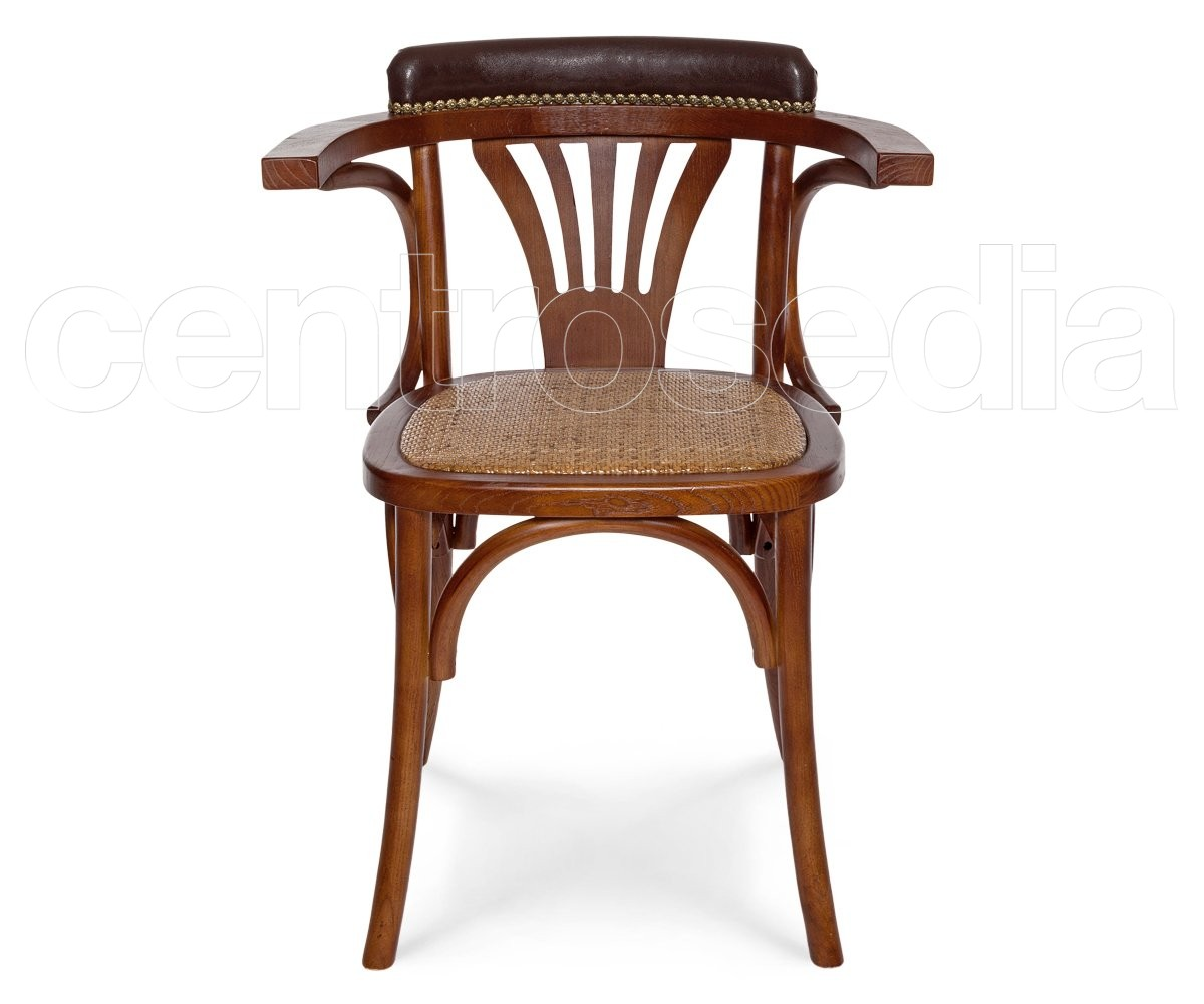 Lisboa poltroncina legno seduta rattan sedie vintage legno