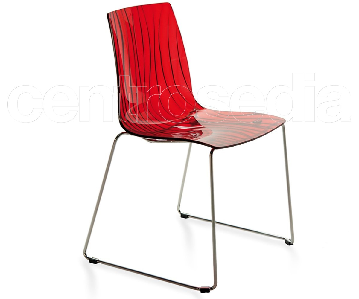 Dalì sedia slitta policarbonato sedie policarbonato trasparenti