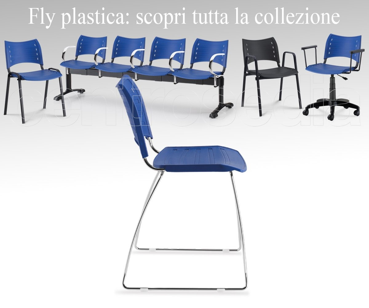 Fly Line Sedie Pieghevoli.Fly Polypropylene Sled Chair Conference Meeting Chairs