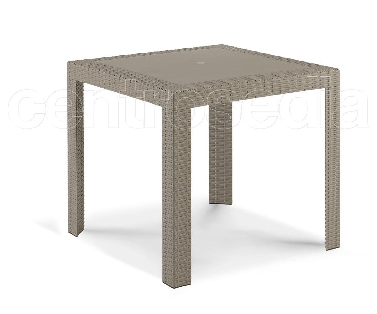 Fred Tavolo Polipropilene 80x80 cm-Tavoli Polipropilene e Plastica