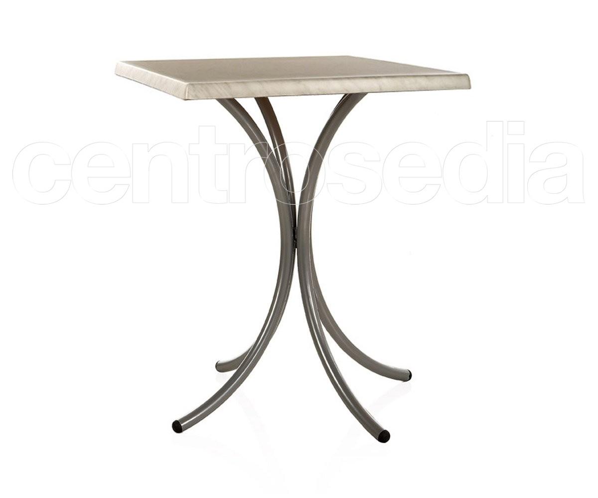 Giglio Tavolo Metallo a 3 o 4 gambe - Tavoli Alluminio, Metallo