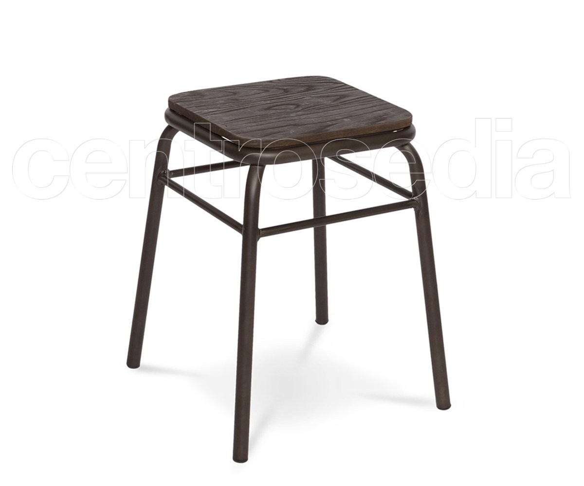 College sgabello basso metallo seduta legno sgabelli bar ristoranti