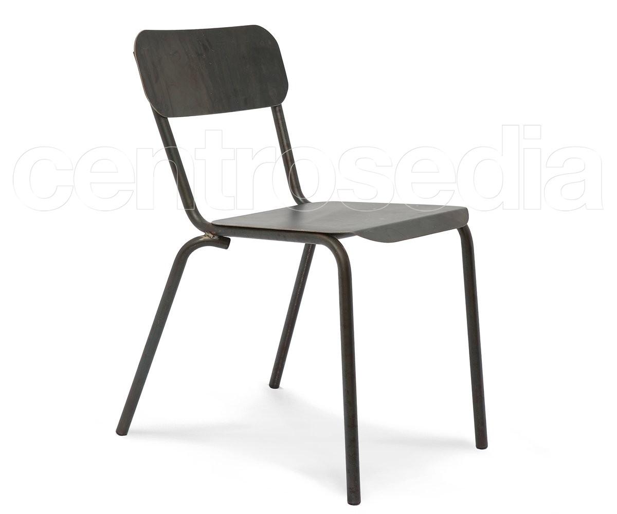 Kira sedia metallo sedie vintage e industriali for Sedia ufficio vintage