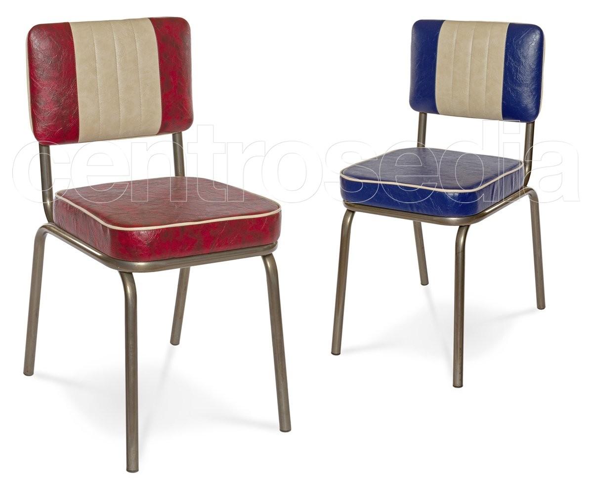 Sedie Imbottite Anni 50 : Club sedia vintage metallo imbottito sedie imbottite