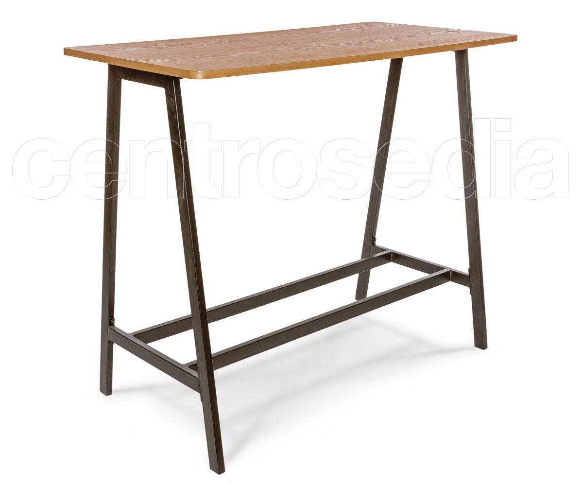 Tavoli Alti In Legno : Marlon tavolo alto metallo legno tavoli alti cocktail