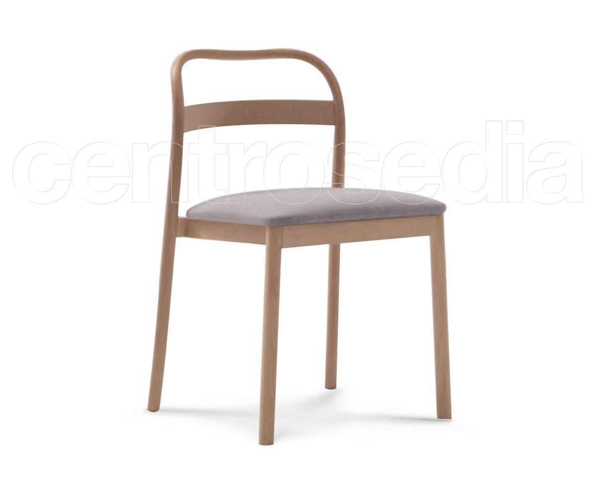 Hannah sedia legno seduta imbottita sedie design legno - Sedia legno design ...