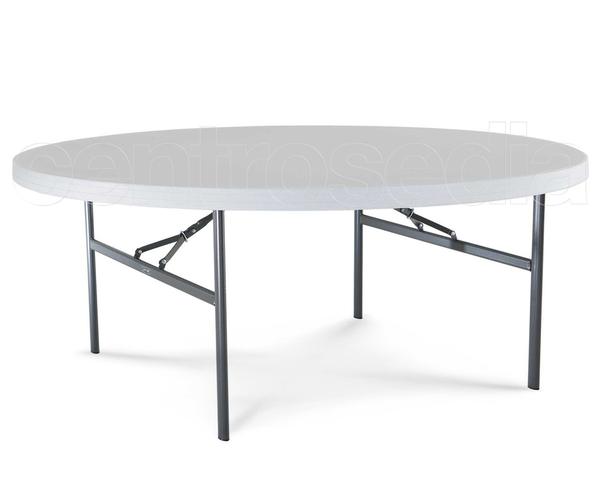 Lifetime 22673 tavolo rotondo 183 tavoli pieghevoli for Tavolo rotondo o qui