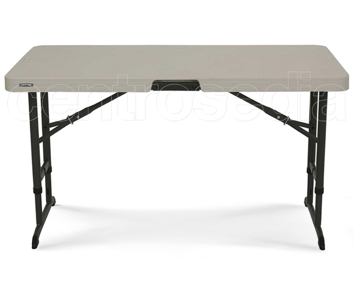 Lifetime 80466 tavolo 122x61 cm regolabile in altezza tavoli pieghevoli lifetime - Tavolo regolabile in altezza ...