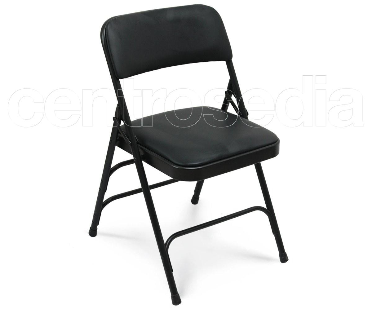 Sedie Pieghevoli Imbottite : Muriel sedia pieghevole metallo imbottita sedie pieghevoli