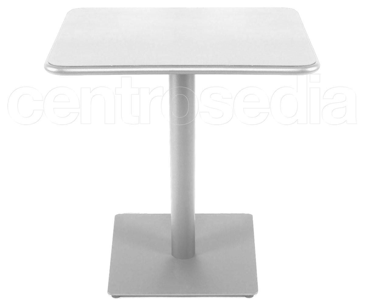 Miguel Tavolo Alluminio 70x70 cm - Tavoli Alluminio, Metallo