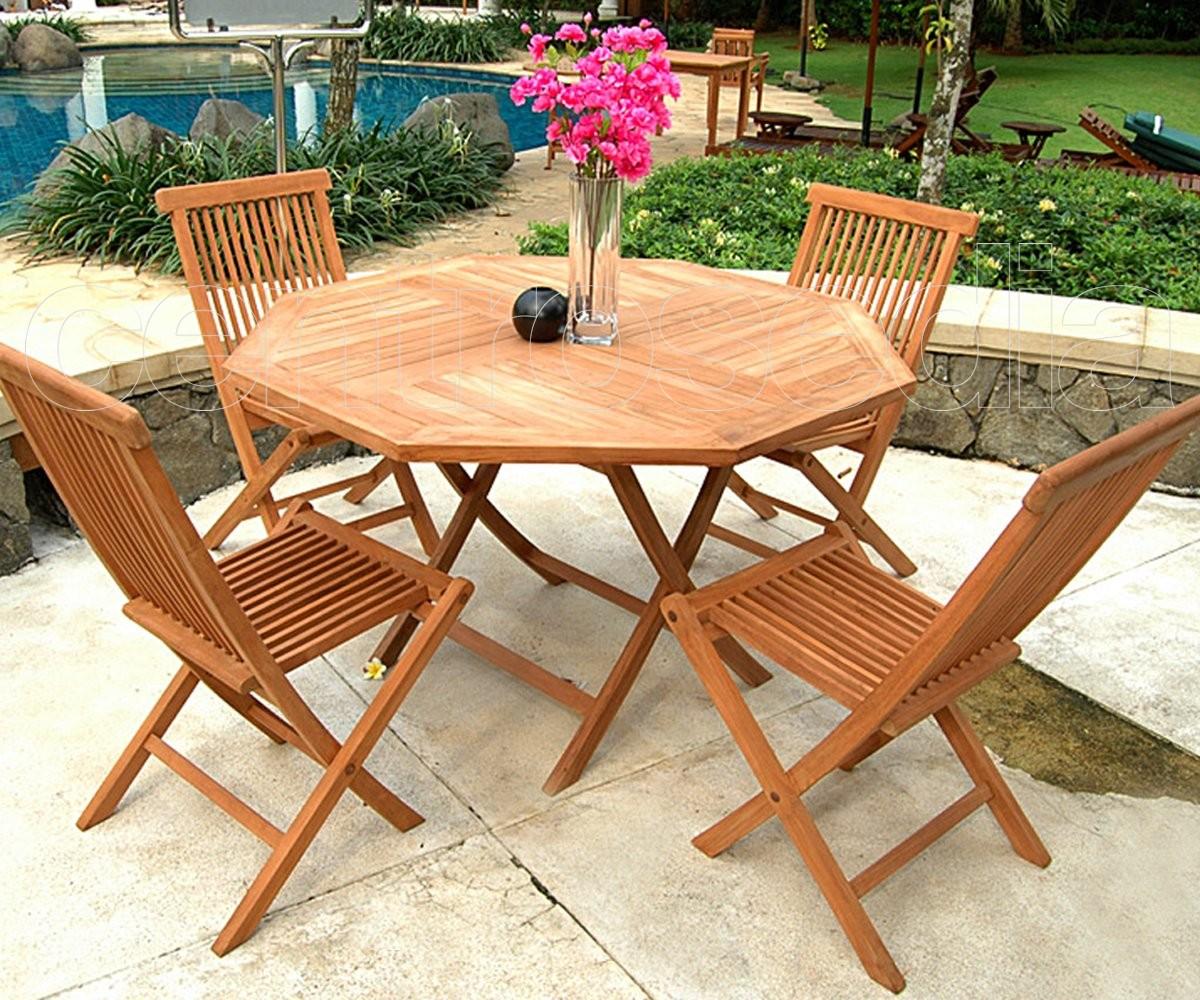 Tavolo Giardino Teak Pieghevole.Citro Octagonal Table In Solid Teak Wood Mese Teak