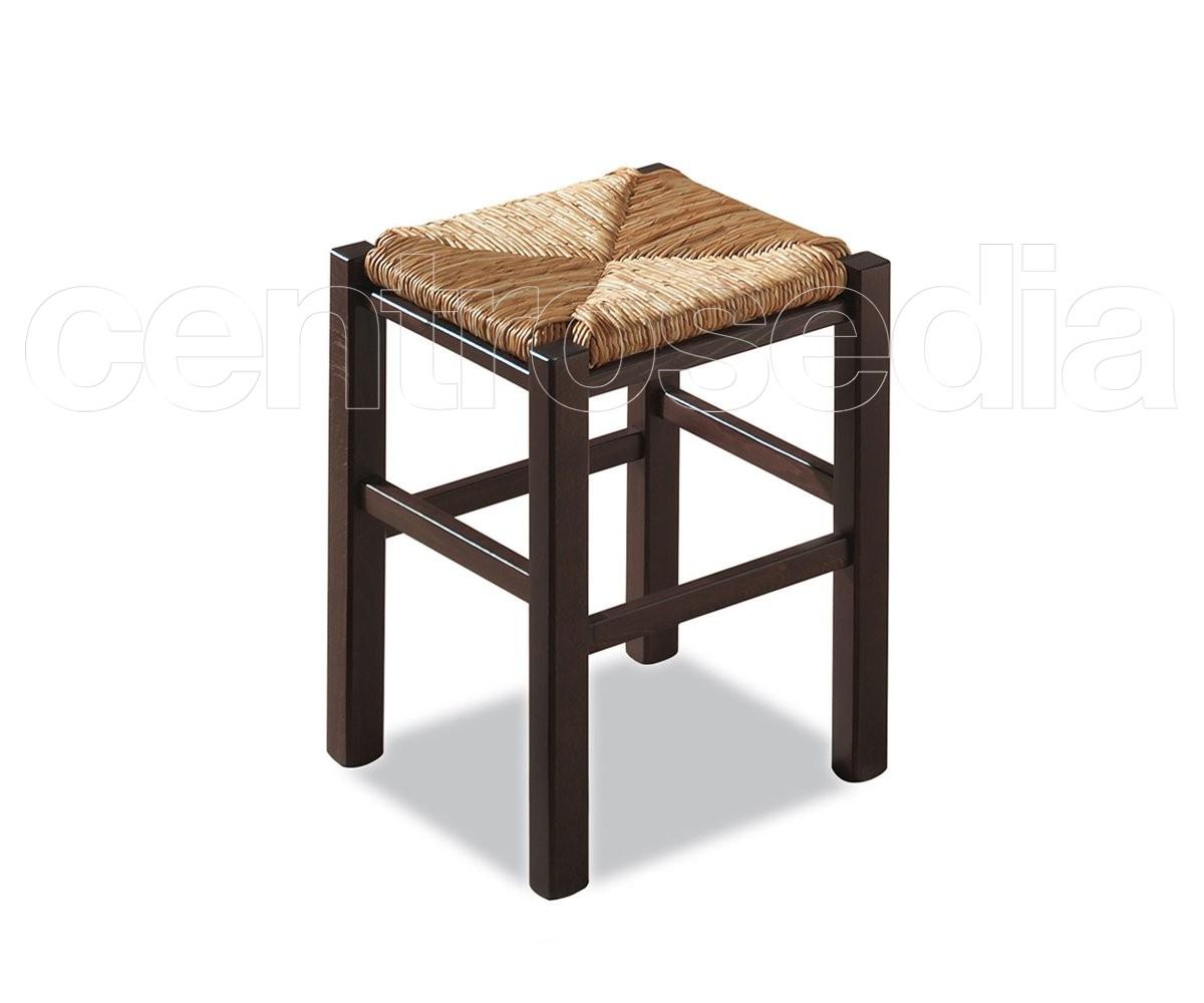 Sgabello legno metallo naturale marrone
