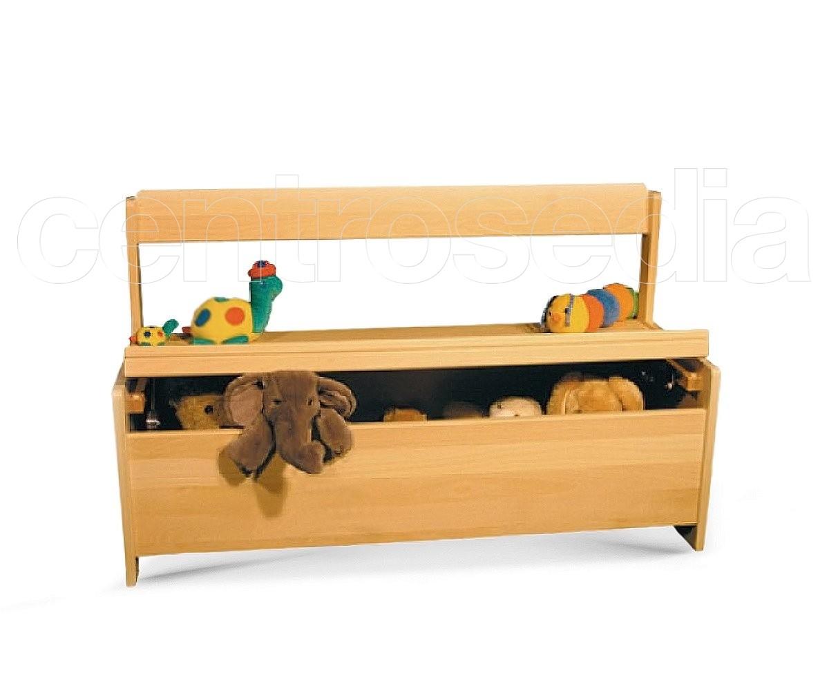 Panca Contenitore Legno : Memole panca legno con contenitore sedie legno per bambini