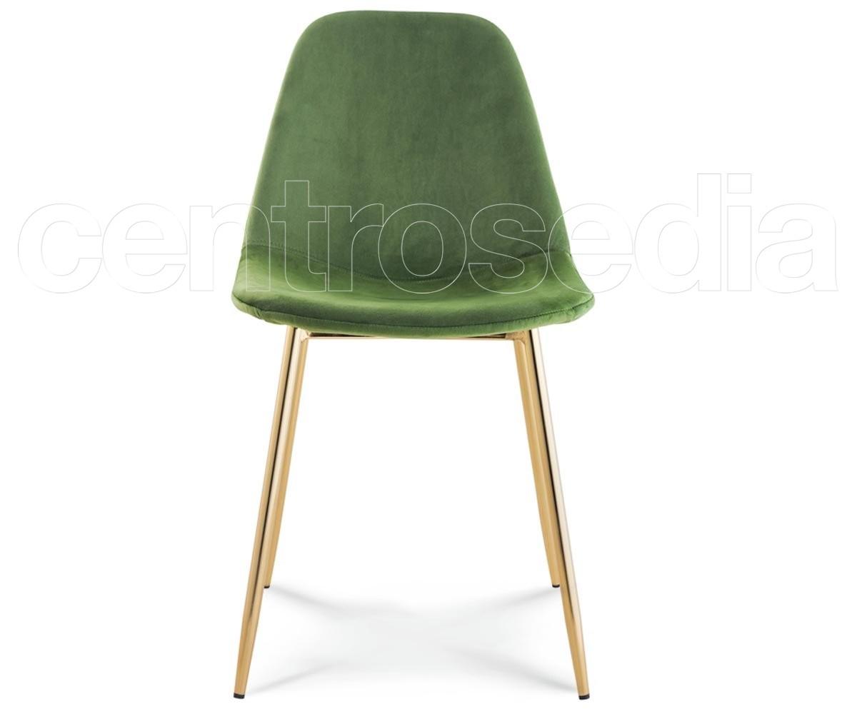 Micky sedia metallo velluto sedie vintage e industriali