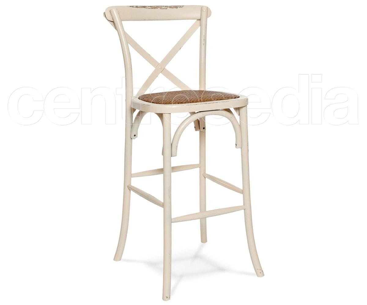 Cross sgabello legno seduta rattan sgabelli bar ristoranti