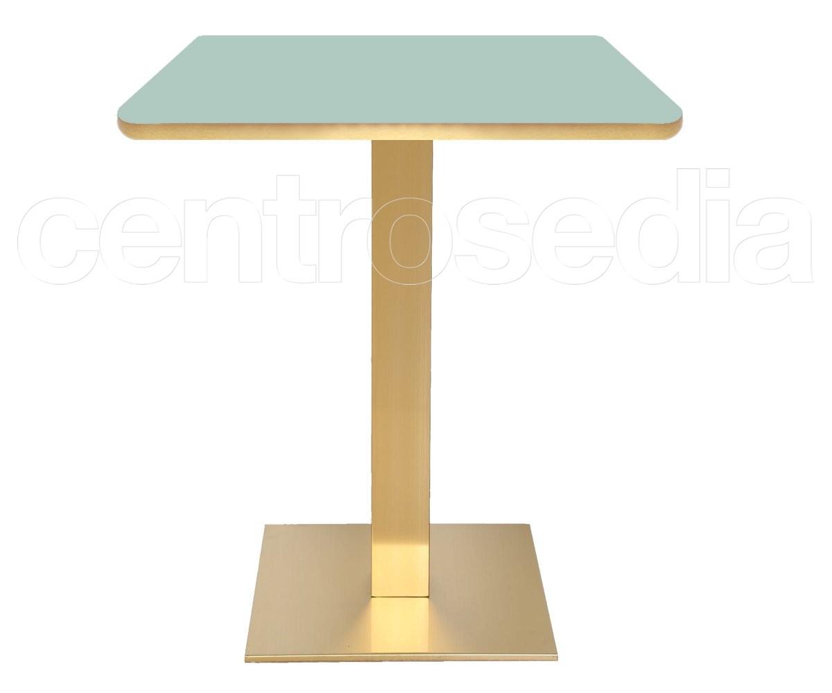 Tavoli In Plastica Per Bar.Munich Base Tavolo Acciaio Oro Tavoli Per Bar Ristoranti