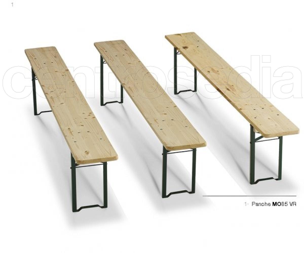 Monaco panca legno birreria pieghevole professionale panche metallo legno - Tavoli da birreria 220x80 ...