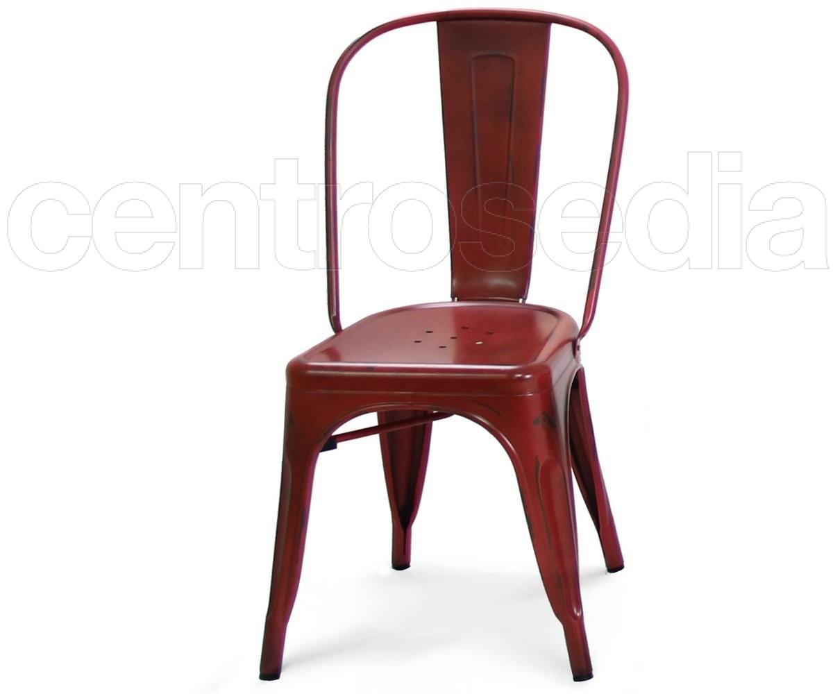Virginia sedia metallo vintage sedie alluminio metallo