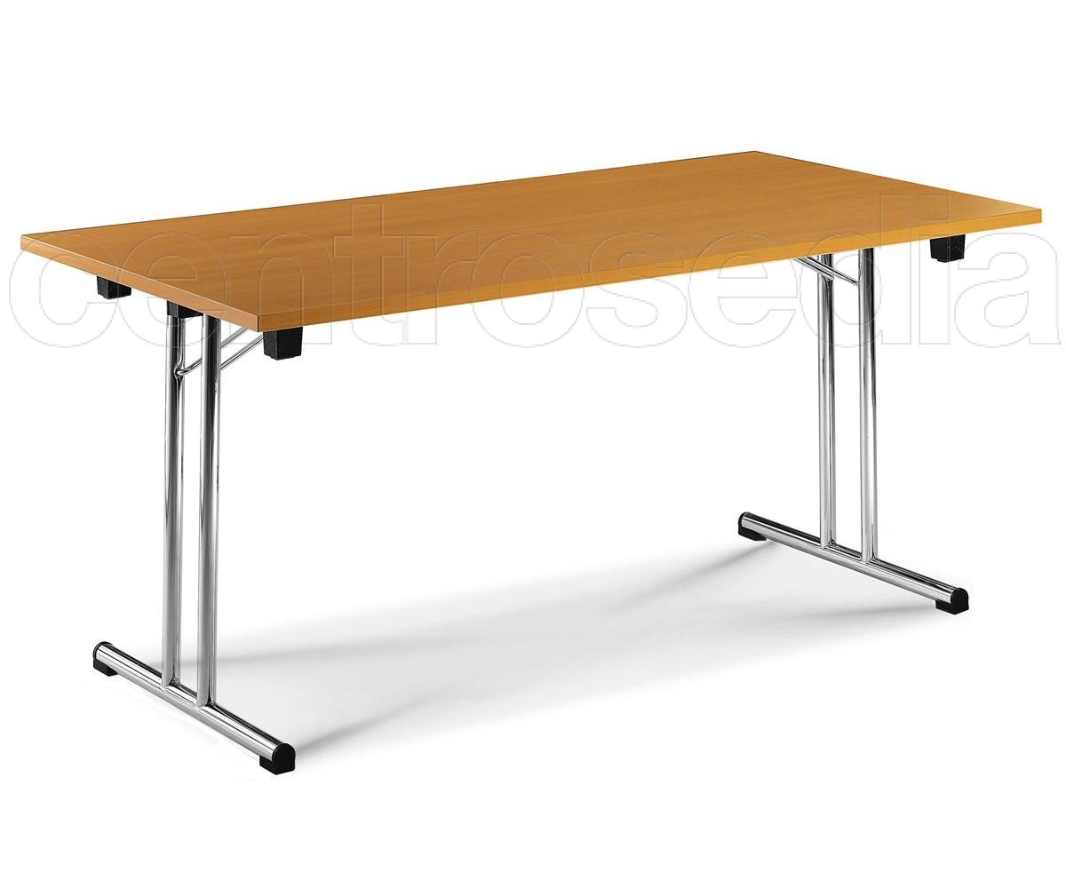 Fold tavolo pieghevole con piano 140x70 cm tavoli for Tavoli pieghevoli economici