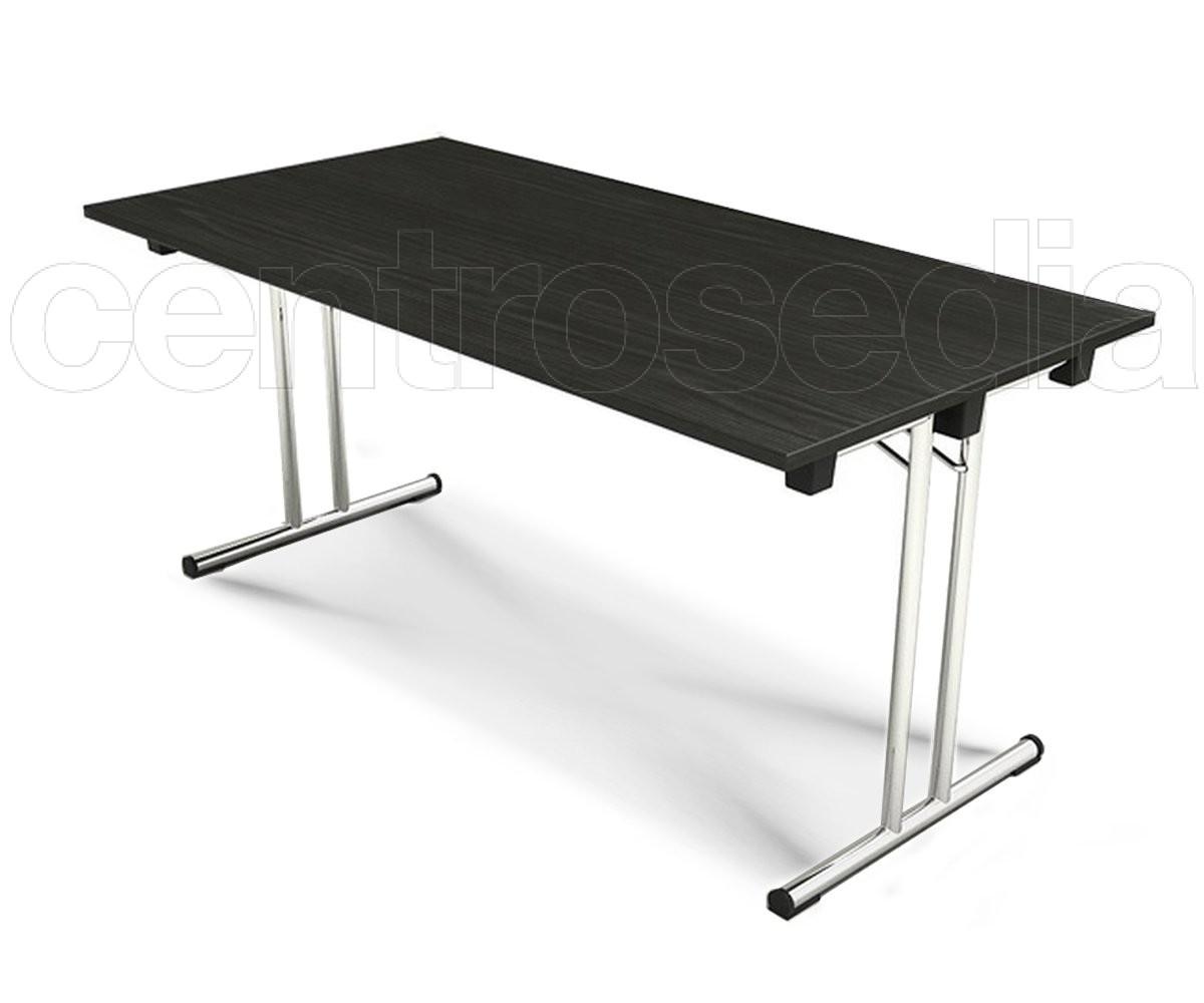 Fold tavolo pieghevole con piano 160x80 cm tavoli for Tavolo plastica pieghevole