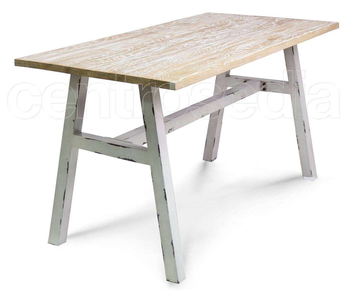 Tavoli Alti Legno : Kansas tavolo metallo vintage tavoli vintage e industriali