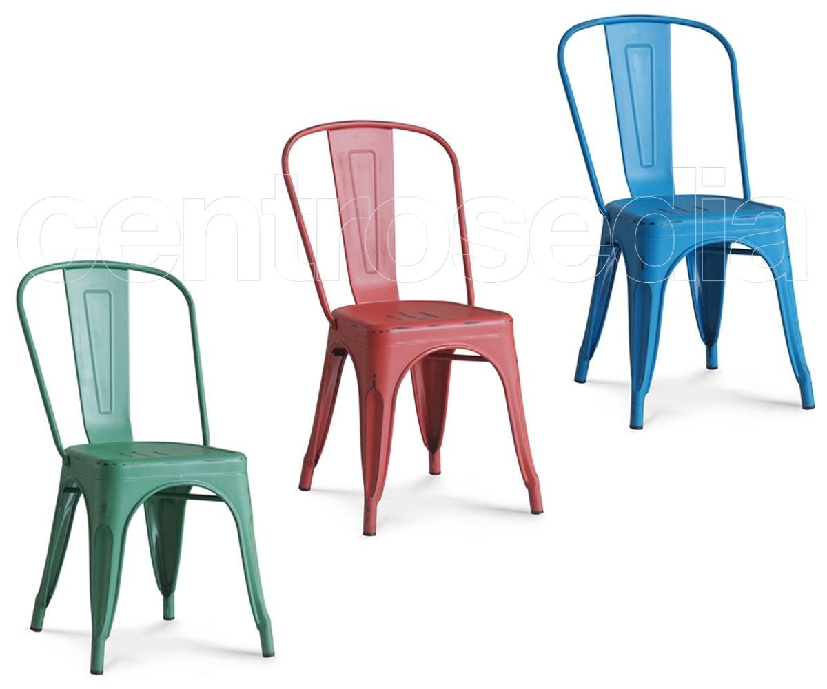 Sedie In Metallo Vintage : Virginia sedia metallo vintage sedie vintage e industriali