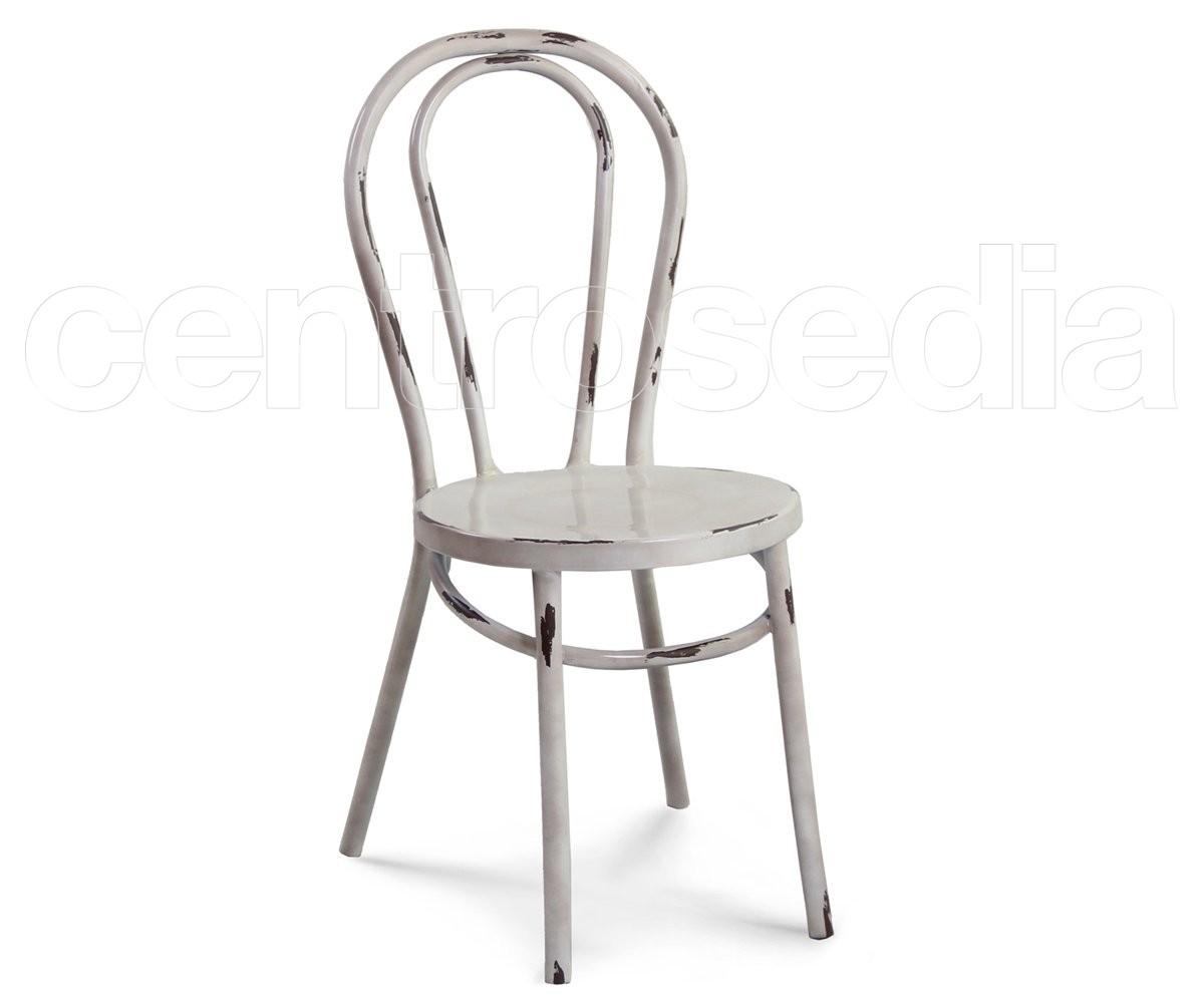 Thonet sedia metallo vintage sedie alluminio metallo for Sedie di metallo