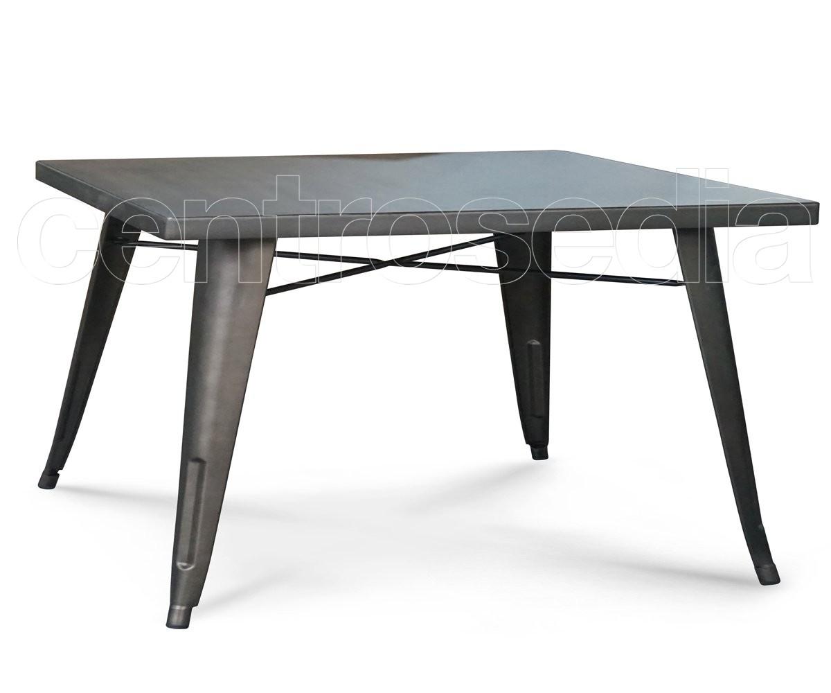 Ares tavolo metallo old style 120x80 cm tavoli vintage e for Tavolo 120x80