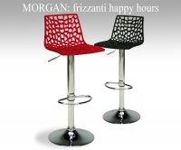 Morgan sgabello policarbonato sgabelli bar ristoranti
